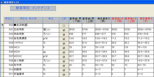 ドック・健診の報告書作成支援ソフト画面イメージ2
